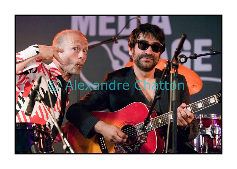 Christophe et Scal, des Missils Airlines.<br /> <br /> Vendredi 1er juillet 2011:2e jour du 45e Montreux Jazz Festival.