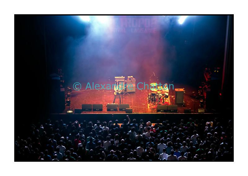 Le groupe britannique Blood Red Shoes à la salle Métropole à Lausanne le vendredi 9 novembre 2012.<br /> Les membres actuels du groupe sont: Steven Graham Ansell et Laura-Mary Carter.