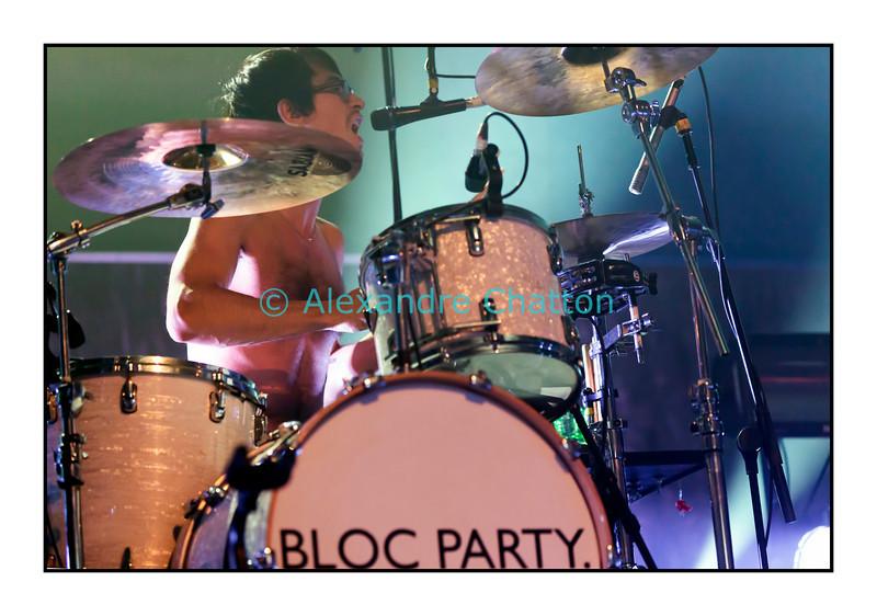 9 novembre 2012: le groupe britannique Bloc Party au Metropop Festival. Ici, Matt Tong.