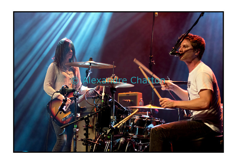 9 novembre 2012, Lausanne: Blood Red Shoes au Metropop Festival. Steven Graham Ansell et Laura-Mary Carter.