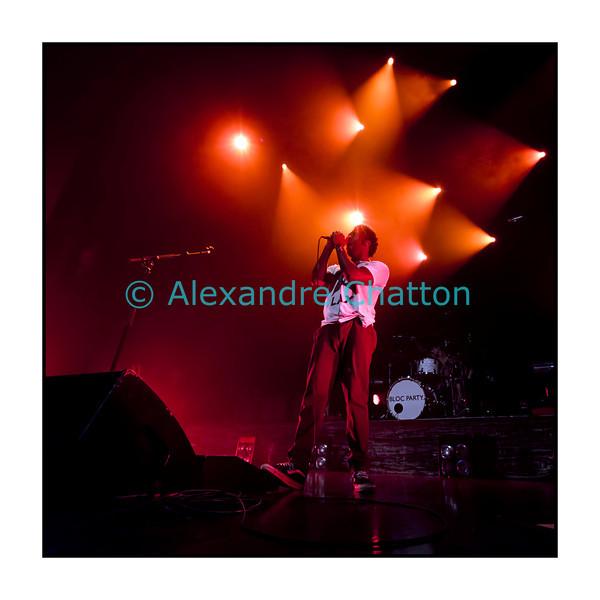 9 novembre 2012: le groupe britannique Bloc Party au Metropop Festival. Ici, Kele Okereke
