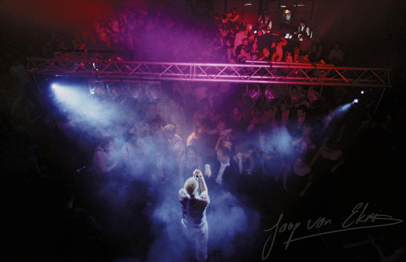 Midnight Run on stage at the Evoluon