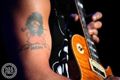 SLASH: Not your usual photo of guitar hero Slash, taken at Hammerstein in New York.