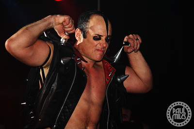 DEVILOCKED: Horror punk originator Jerry Only from The Misfits strikes a pose for me.