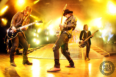 TIMES SQUARE: Buckcherry on stage in New York City's famous Times Square on their All Night Long World Tour 2011.
