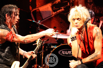 SENSORY OVERDRIVE: Finnish glam punk rocker Michael Monroe (Hanoi Rocks) in NYC with his guitarist Dregen (Backyard Babies).