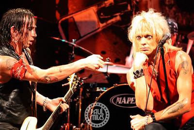 SENSORY OVERDRIVE: Finnish glam punk rocker Michael Monroe (Hanoi Rocks) in NYC with his guitarist Dregen (Backyard Babies).