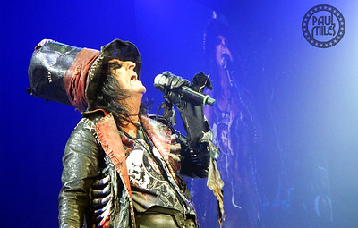 THE COOP: Shock rock pioneer Alice Cooper performing at Melbourne's Rod Laver Arena during 2015.