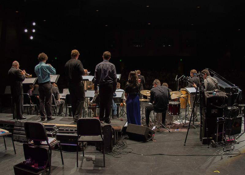 Prescott High School Jazz Ensemble featuring Mike Vax on trumpet