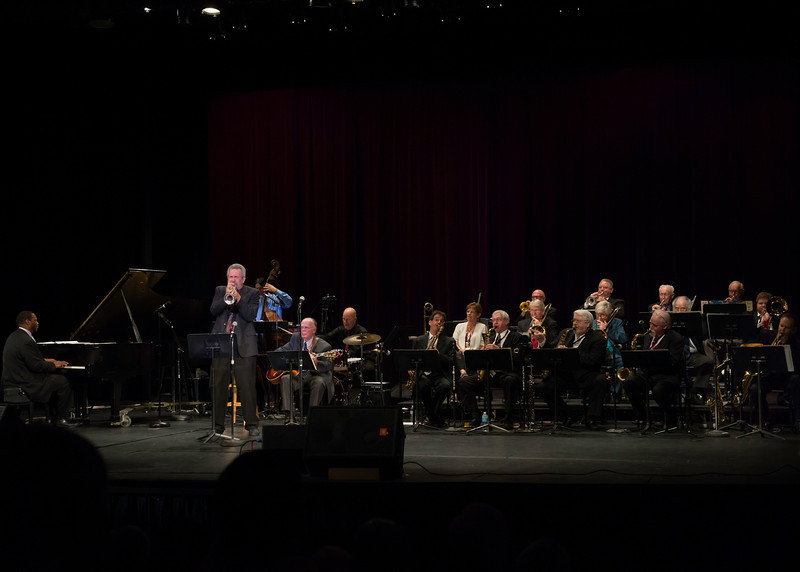 Carl Saunders with The Prescott Jazz Summit All-Star Big Band at the Saturday night concert in the Prescott High School Auditorium.