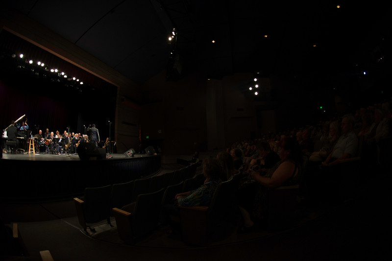 The Prescott Jazz Summit All-Star Big Band at the Saturday night concert in the Prescott High School Auditorium.