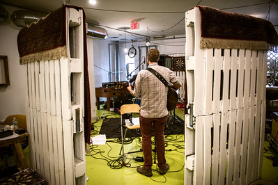 Preson Phillips and his band record demos for an upcoming album on July 7, 2012 at FRNKLN STREET Studios in Tampa, Florida