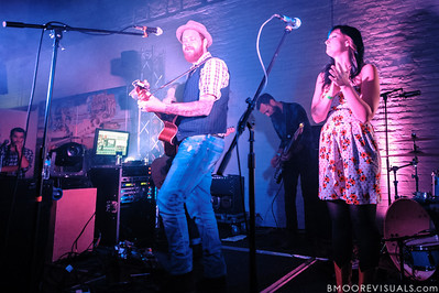 "Preson Phillips, Nate Murray, and Rachel Collins perform on November 5, 2011 during the ""Wrath"" album release show at The Kennedy 2.0 in Tampa, Florida"