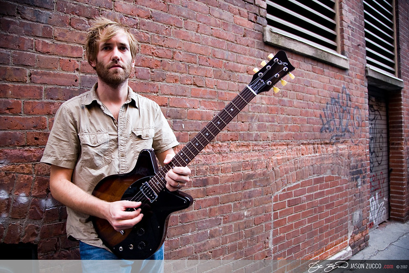 Minus the Bear guitarist and effects master mind, David Knudson, Back Bay Boston, MA