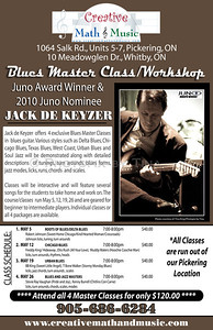 Juno Award Winner & 2010 Juno Winner Jack De Keyzer ...since publication of poster  (graphics by The UPS Store, North Ajax/ photo by Photopix by Tina) http://www.creativemathandmusic.com/docs/CMAM_JackDeKeyzer-BluesMasterClass.pdf