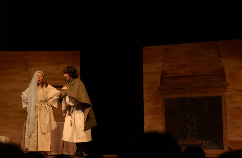 Jenn Moore and Julie Quinn as Amahl and his mother