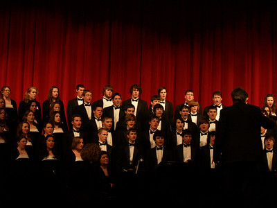 Seth accompanying Select Chorus.