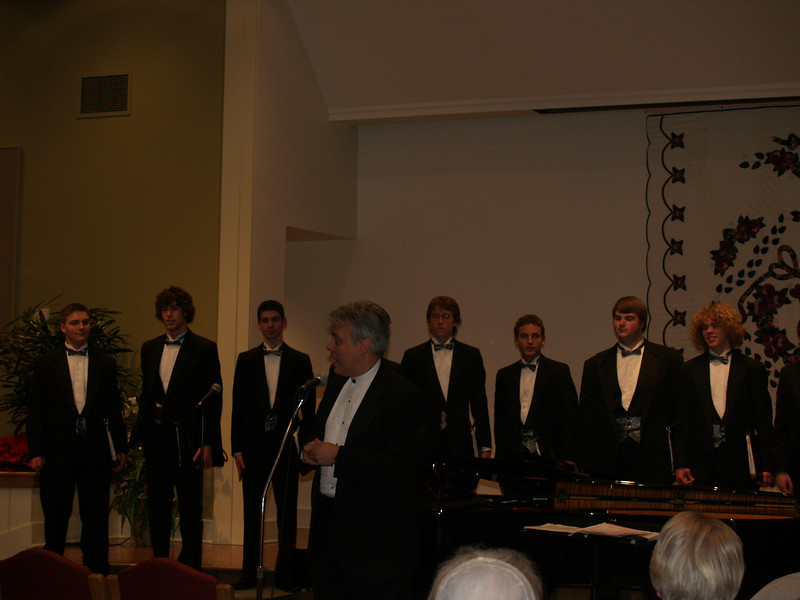 Varsity Singers (Men) at SMH - Seth on right
