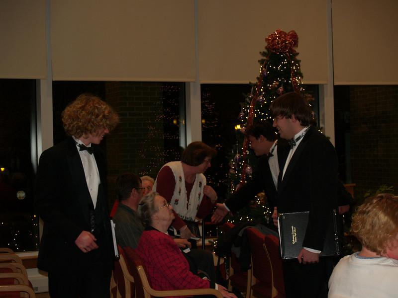 Varsity Singers at SMH - meet & greet