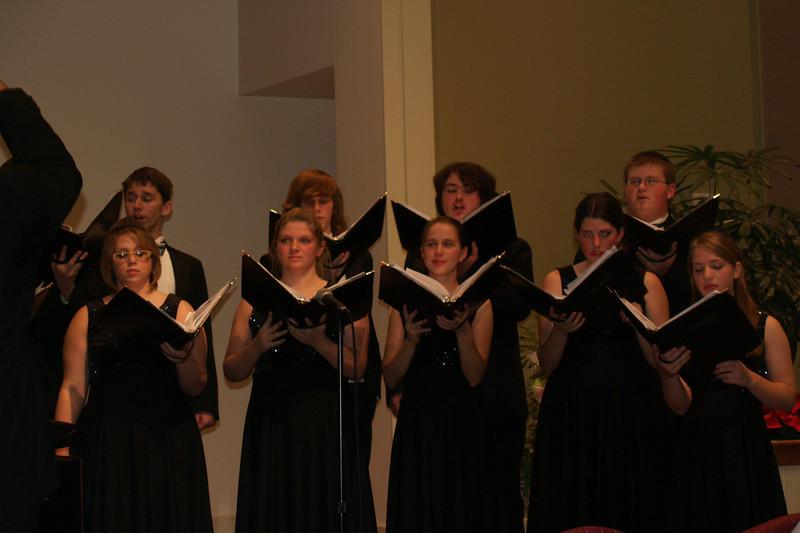 Varsity Singers at SMH (Lydia on far right)