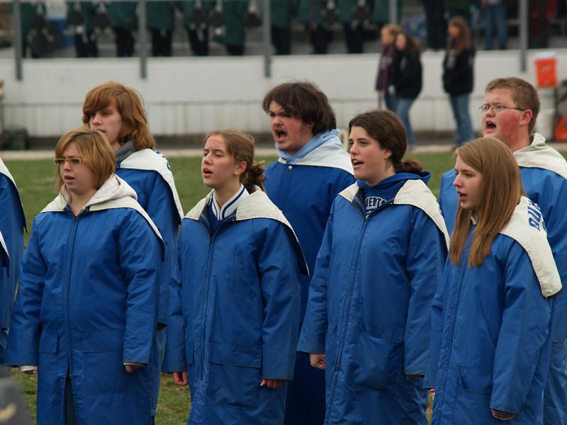 Varsity Singers at Thanksgiving Day Game