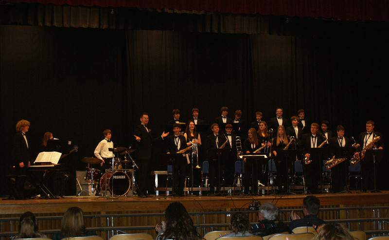 Seth's jazz band--  QCSHS Lab Jazz Band, led by Mr. Adam Gumble.  Jazz Fest, Spring 2008