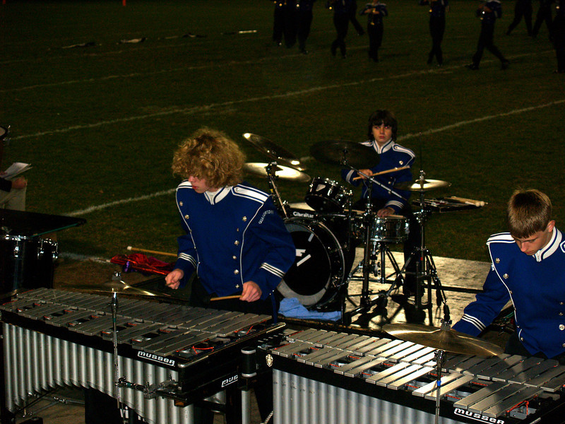 QCHS Marching Band in football game with Souderton H.S.