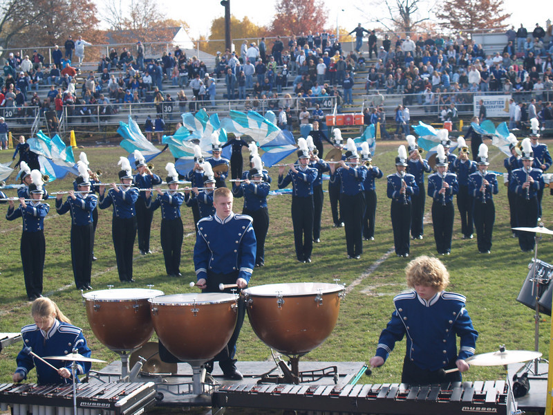 Seth and Mallet Section; Panther Marching Band at Thanksgiving Day Game '07