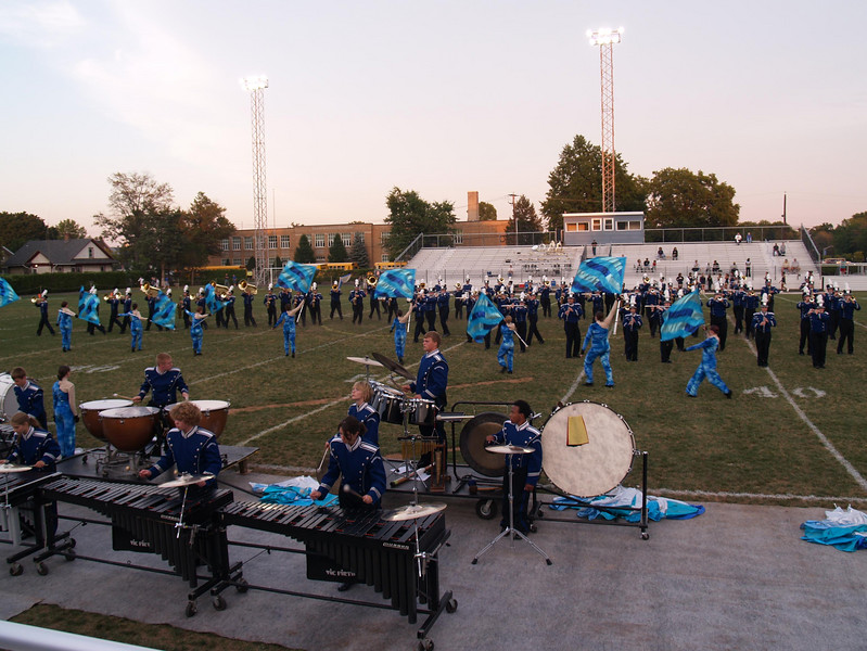 QCHS marching band; Seth in front.  Photo by Rob.