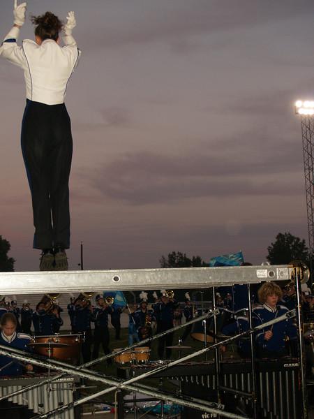 "Lisa W. leading Band on ""Band Night""--  Seth on Right"
