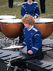 Seth playing marimba; marching band '07 (Photo by Rob)