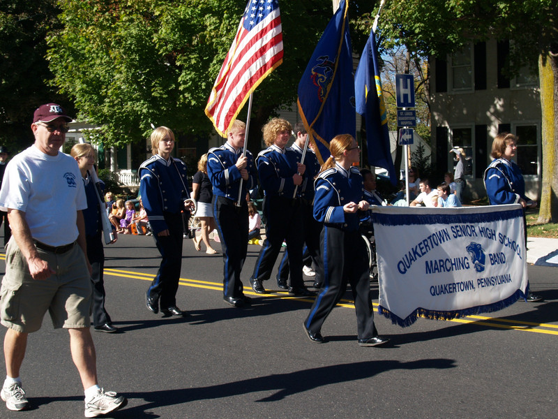 in Halloween Parade, '07... Mallet players carrying flags