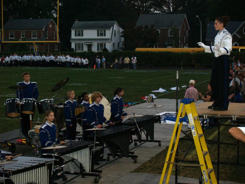 QCSHS Marching Band, Lisa W. leading