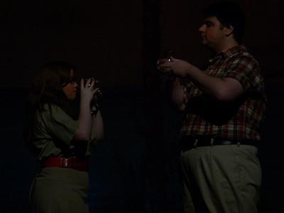 Nellie (Maggie Montoney) & Emile (Jon Bauman) on terrace at Emile's
