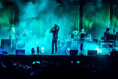 Thom Yorke levitates