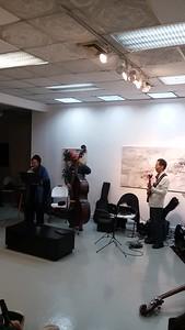Lynn Beville, Bishu, on bass, Yoshiki , guitar, Tamiko keys, and Ilya on drums