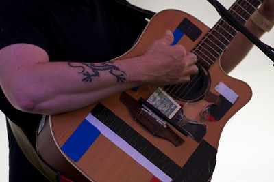 Sean Rowe, with his special acoustic enhancements.