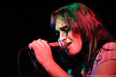 Alexandra Lawn of Ra Ra Riot performs on March 9, 2011 for a sold-out crowd at Crowbar in Tampa, Florida