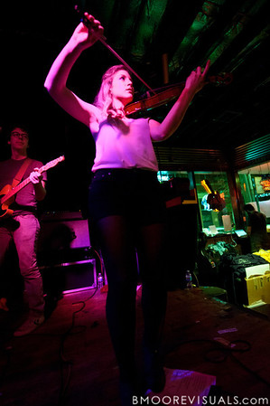 Milo Bonacci and Rebecca Zeller of Ra Ra Riot perform on March 9, 2011 for a sold-out crowd at Crowbar in Tampa, Florida