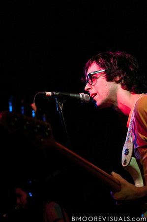 Mathieu Santos of Ra Ra Riot performs on March 9, 2011 for a sold-out crowd at Crowbar in Tampa, Florida