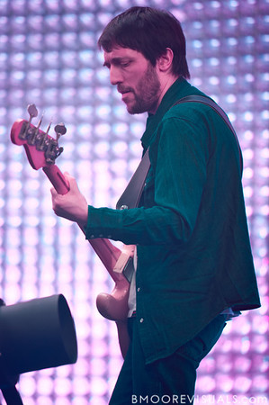 Colin Greenwood of Radiohead performs on February 29, 2012 at Tampa Bay Times Forum in Tampa, Florida