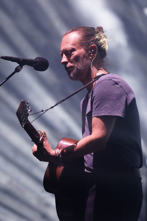 . Radiohead live at Little Caesars Arena on 7-22-18.. Photo credit: Ken Settle