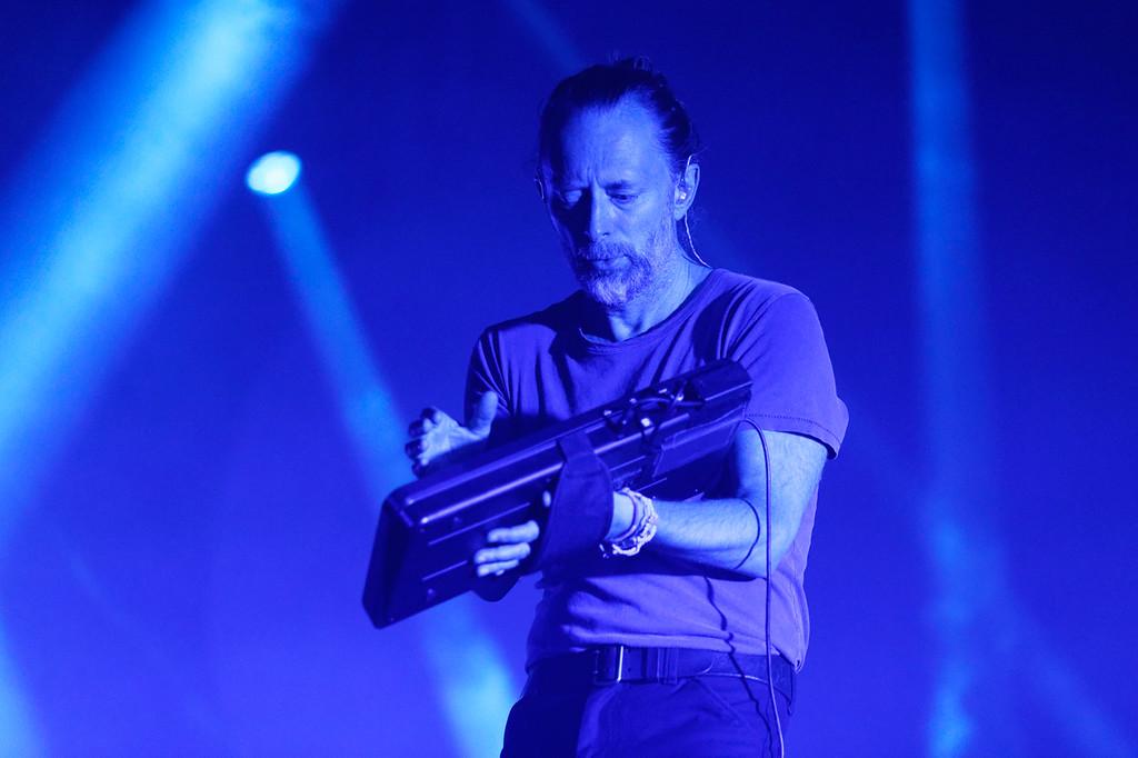 . Radiohead live at Little Caesars Arena on 7-22-18.. Photo credit: Ken Settle