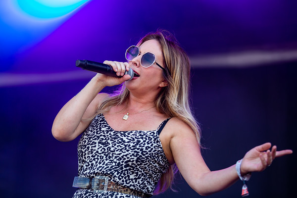 Lucie Silvas on the Limestone Stage at the Railbird Festival in Lexington, KY Photo by Tony Vasquez.