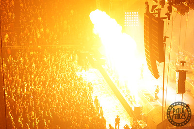 MADISON SQUARE GARDEN: Pyro display during Rammstein's sold-out show at New York City's most famous arena, 2010.