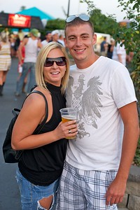 Jen Odle and Mitch Thompson of Colerain at Riverbend on Friday for Rascal Flatts