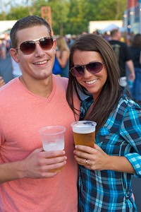 Casey Haws and Rebekah Heemstra of Hyde Park at Riverbend on Friday for Rascal Flatts
