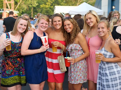 Krista and Madeline Naber, Haley McKay, Caitlin Jutte, Allison Gathof and Ashley Hale from UC at Riverbend on Friday for Rascal Flatts