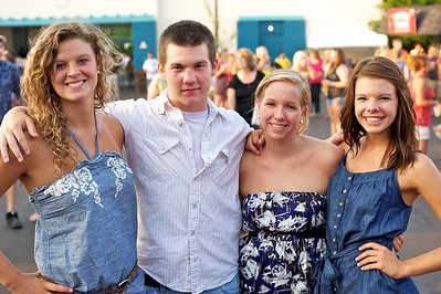 Maria Clark, Tyler Mitchell, Liza Dadorsky and Paige Kroell of Cincinnati at Riverbend on Friday for Rascal Flatts