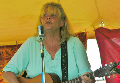 Brenda Smith croons a ballad during Honey Brook's last Concerts in the Park show for 2013.
